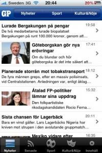 Göteborgs-Postens Iphoneapp